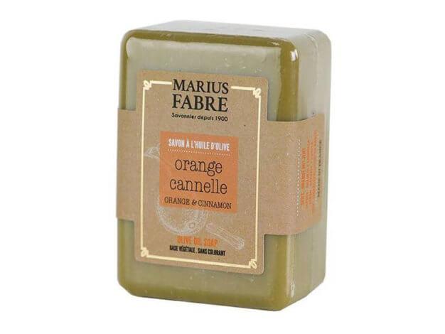 Sapone all'olio d'oliva - arancia e cannella - 150 g - Marius Fabre