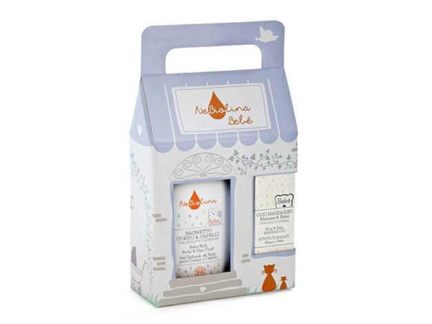Casetta Bagnetto Corpo & Capelli + Olio Massaggio - 500 ml + 100 ml - NeBiolina