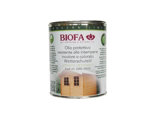 Olio protettivo naturale per esterni resistente alle intemperie - codice 2043 - 1 l - BIOFA