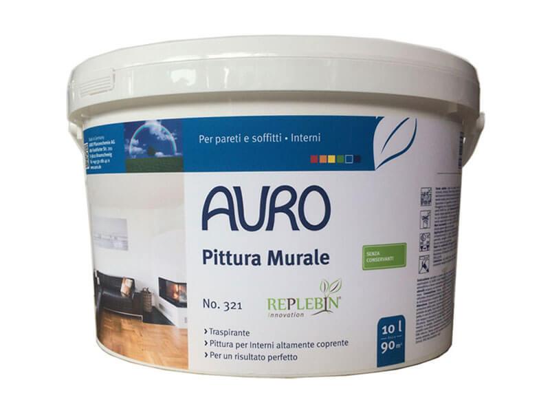 Pittura Murale Naturale Bianco N 321 10 L Auro Ecobioemporio Toccasana Bioedilizia