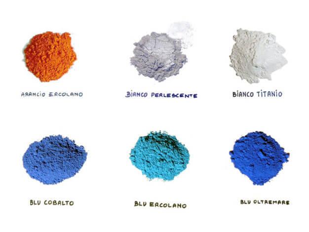 Terre e pigmenti coloranti
