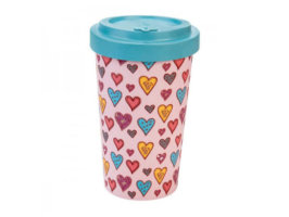 Bicchiere Bamboo - Candy hearts - 500 ml - WoodWay