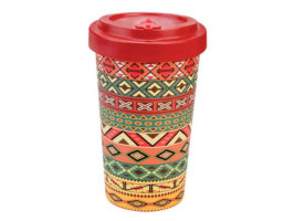 Bicchiere Bamboo - Aztec Orange Red - 500 ml - WoodWay