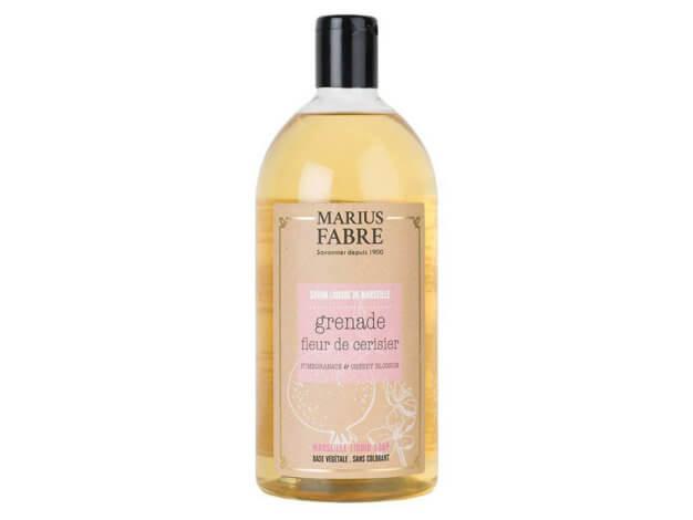 Sapone liquido di Marsiglia per il corpo - Melograno e fiori di ciliegio - 1 l - Marius Fabre