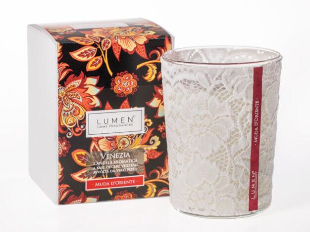 Candela aromatica Venezia Muda d'Oriente - 400 ml - Lumen