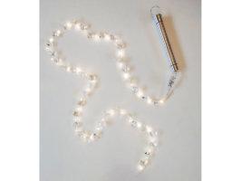 Filo di cristalli con luci - 40 led