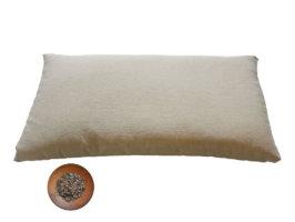 Guanciale in pula di grano saraceno bio - 75x45 h7 cm