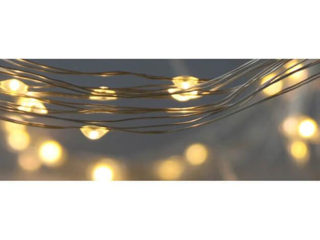 Pioggia di luci di Natale - Argento - 180 led