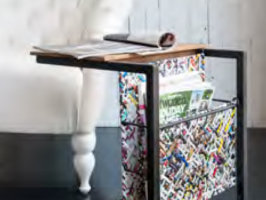 Tavolino porta riviste 40x40 h 50 cm - IDI STUDIO