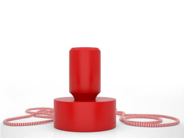 Lampada da tavolo Tavolotto Rosso - Filotto