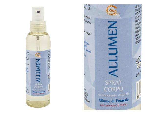 Allume di potassio spray corpo BIO - ALLUMEN - con estratto di malva - 125 ml - Carone