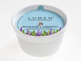 Candela vegetale Soufflè Luminoso Basilico e Lavanda - 100 ml - Lumen