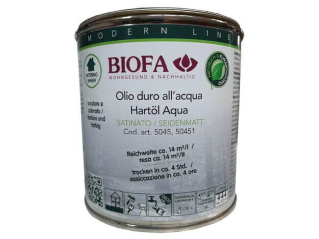 Olio duro all'acqua - codice 5045 - 0,375 l - BIOFA