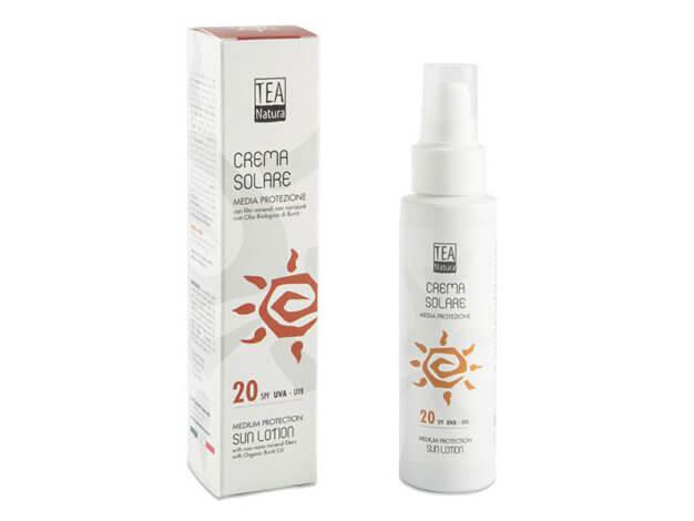 Crema Solare SPF 20 - Media Protezione - 100 ml - Tea Natura
