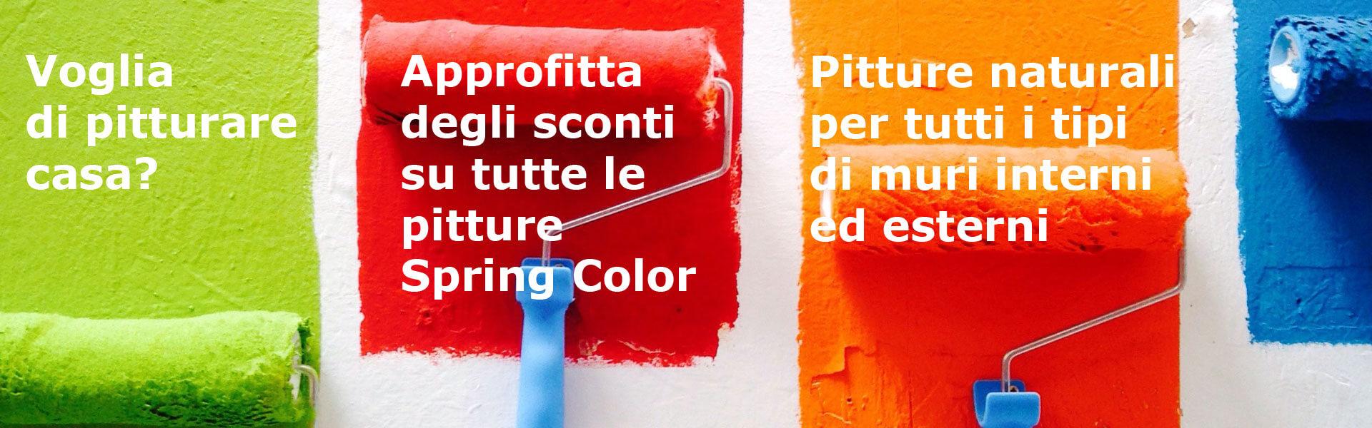 Approfitta degli sconti su tutte le pitture Spring Color