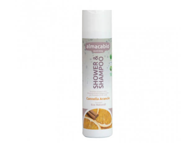 Shower & Shampoo alla cannella e arancio - 250 ml - almacabio
