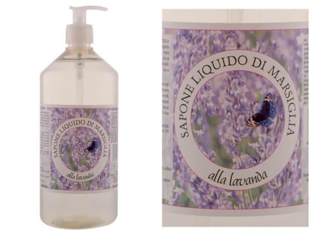 Detergente liquido SAPONE DI MARSIGLIA con olio essenziale di Lavanda - 1 l - Carone
