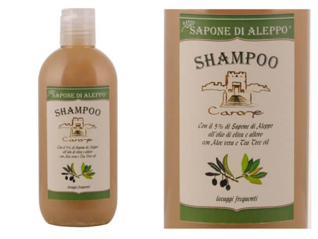 Shampoo SAPONE DI ALEPPO lavaggi frequenti - 250 ml - Carone