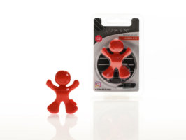 Profumatore per auto Leonardo car fragrance - Amber Kiss - Rosso-Red - Lumen