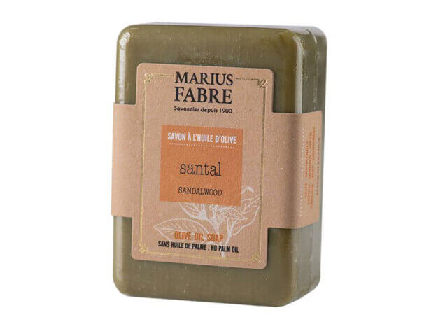 Sapone all'olio d'oliva - sandalo - 150 g - Marius Fabre