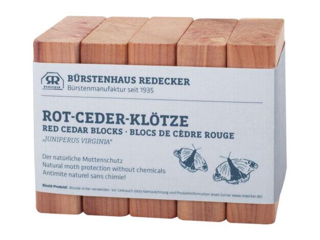 Blocchetti in legno di cedro - 5 pezzi - Bürstenhaus Redecker