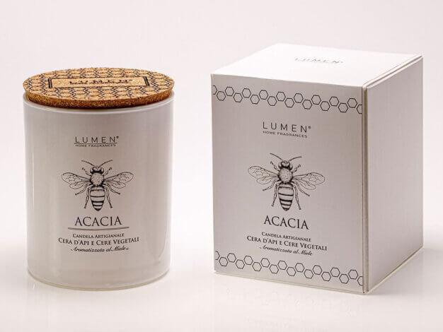 Candela con Cera Api Natura Amica Acacia - 200 ml - Lumen