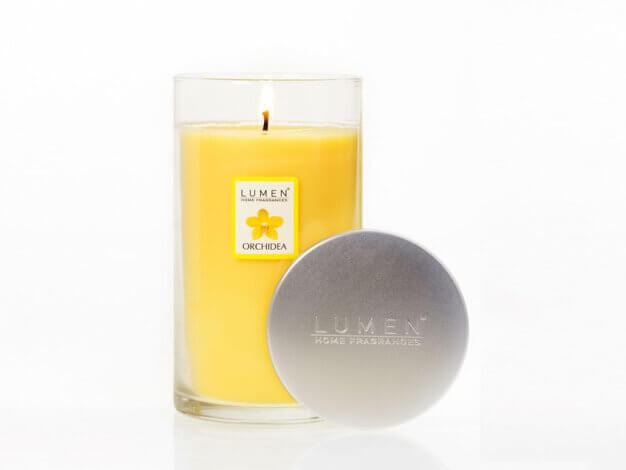 Candela vegetale Jar+Lid Fragranza Orchidea - 600 ml - Lumen