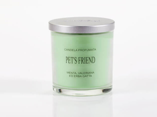 Candela vegetale Pet's friend - coperchio alluminio - 150 ml - Lumen