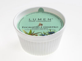 Candela vegetale Soufflè Luminoso Eucalipto e Ginepro - 100 ml - Lumen